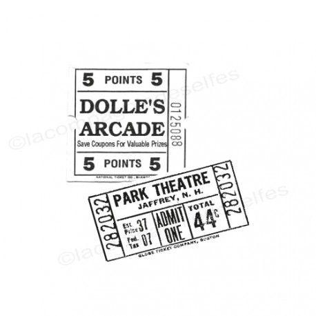 underground ticket | theater ticket | theater stempel