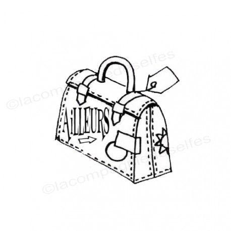 koffer tintenstempel | travelcase stamp | tampon scrapbooking valise
