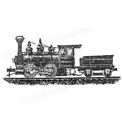 zug tintenstempel | train rubber stamp | tampon train