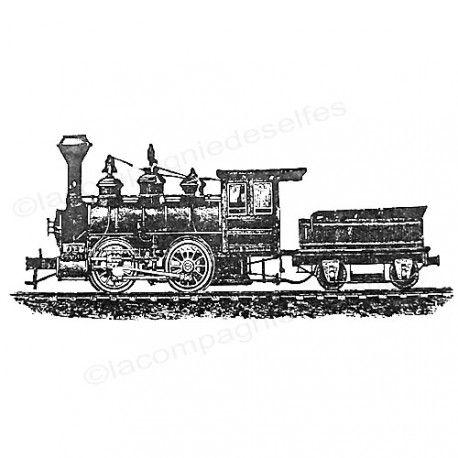 zug tintenstempel | train rubber stamp | tampon train