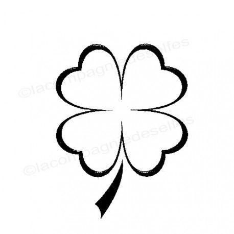 Tampon encreur trèfle | achat cachet trèfle | heart wooden stamp