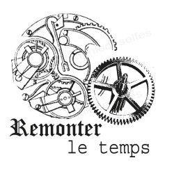 Remonter le temps - mécanismes horloge vintage tampon nm