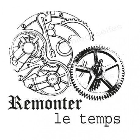 Carte steampunk 2/3 Remonter-le-temps-mecanismes-horloge-vintage-tampon-nm