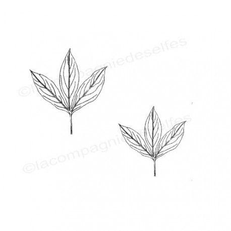 peany rubber stamp | peony stamp | leaf stamp | Pfingstrose stempel