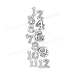 numbers stamps | tampon chiffre scrap | tampon scrapbooking rentrée classe