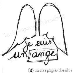 Tampon ange | angel stamp | Tampon naissance ange