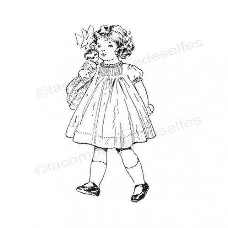 vintaj stamp | stempel vintage | tampon encreur rétro | tampon scrapbooking enfant