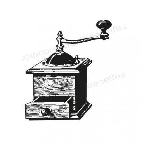 Tampon scrapbooking moulin café | tampon scrap vintage | mowder koffee stamp