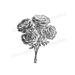 Tampon encreur rose | tampon scrapbooking rose | tampon scrap shabby chic