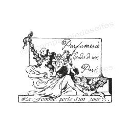 Tampon parfum paris | perfump stamp | paris rubber stamp | tampon encreur ancien