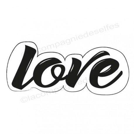 Tampon scrapbooking love| tampon encreur love | tampon mariage love