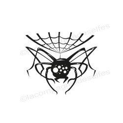spider rubber stamp | tampon araignée | tampon encreur halloween