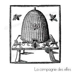 abeille et ruche tampon nm