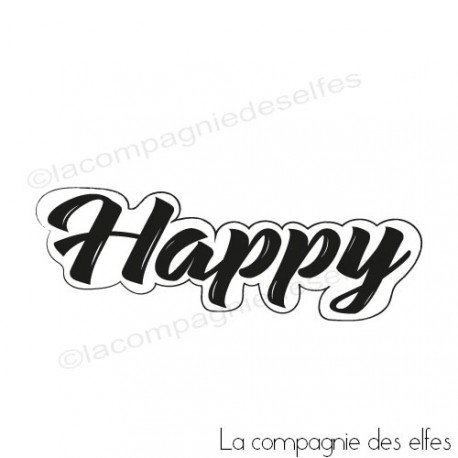 Tampon scrap happy| tampon encreur happy | scrapbooking happy