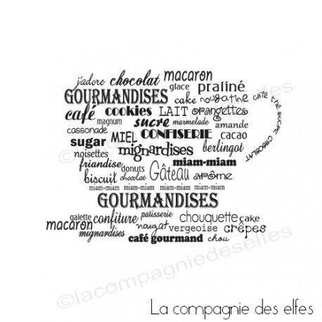 Tampon gourmandise | tampon scrapbooking cuisine | tampon tasse chocolat