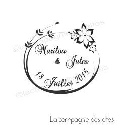 Tampon mariage personnalisé | mariage champêtre | tampon mariage personnalisé