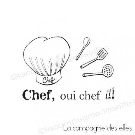 Tampon chef cuisine | tampon encreur cuisine | tampon scrapbooking cuisine