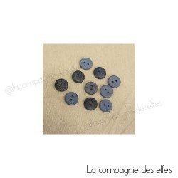 Bouton bleu | bouton coco | bouton bois