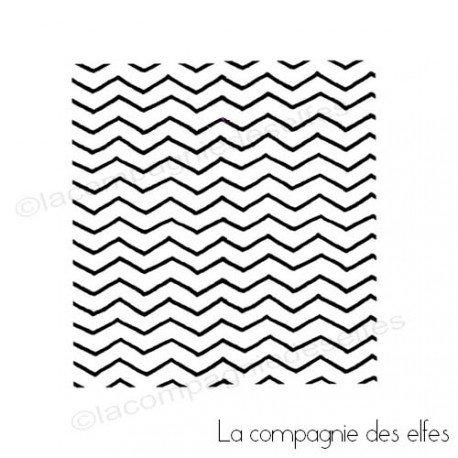waves stamp | tampon scrapbooking géométrique