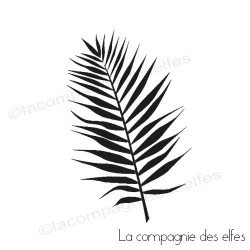 palm leaf rubber stamp| palmen stempel | tampon encreur exotique