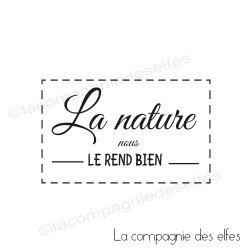 Tampon la nature nous le rend bien
