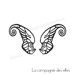 tampon encreur ailes | wings rubber stamp | flügel stempel | aile papillon