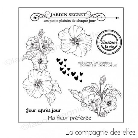 Tampon scrapbooking kit| tampon encreur scrap | flower stamp