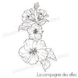Tampon scrapbooking vahine | tampon encreur scrap | flower stamp