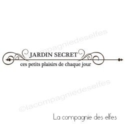 Tampon jardin secret | tampon encreur plaisir | secret garden stamp