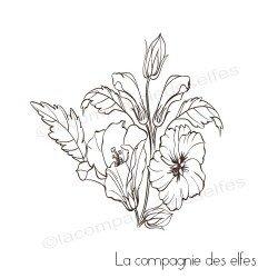 Tampon bouquet hibiscus