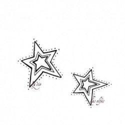 duo d'étoiles tampons non montés