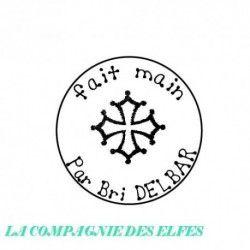 Fait main croix occitane personnalisé - tampon bois -