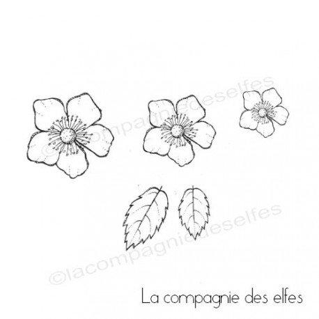 Challenge d'Août exotique. Fleur-et-feuilles-du-japon-tampons-nm-gm