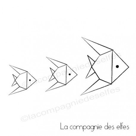 fish origami stamp | tampon origami | acheter tampon poisson
