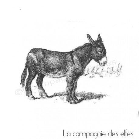 Tampon encreur baudet | tampon bois âne