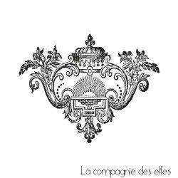 Tampon encreur baroque | baroque stamp | tampon scrap baroque
