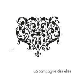 tampon coeur | coeur baroque | tampon encreur coeur