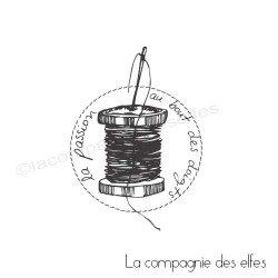 Tampon bobine fil | tampon encreur couture | tampon encreur textile