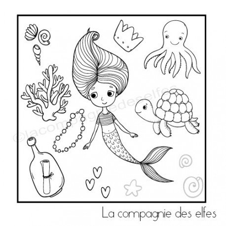 Tampon encreur vacances | sea rubber stamp
