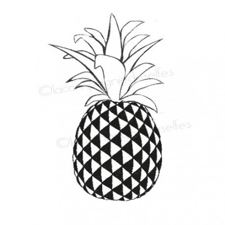 pineapple tree stamp | tampon scrap ananas