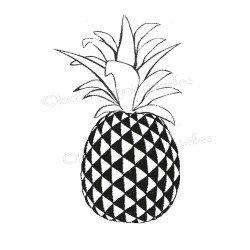 pine apple stamp | tampon scrapbooking ananas