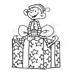 tampon petit elfe de Noël kdo