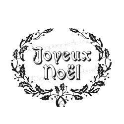 LABEL Joyeux Noël houx nm