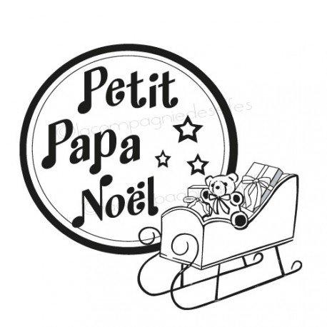 Tampon scrap traineau | tampon papa noël