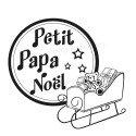 traineau Petit papa Noël tampon nm