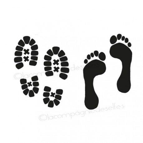 Trace pied | tampon randonnée