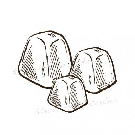 Tampon glaçon | ice cube rubber stamp