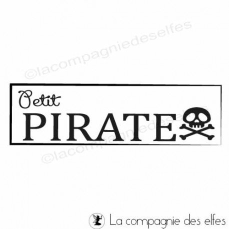 Tampon scrapbooking enfant | tampon scrap enfant | pirate stamp