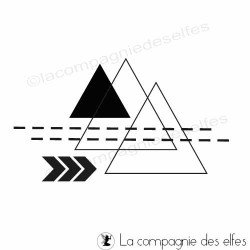 tampon graphique | tampon scrap triangle | achat tampon graphique