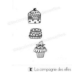 Tampon encreur cupcake | tanpon scrap cupcake